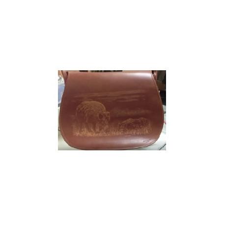 Borsa tracolla Civa in pelle con cinghiale mod. BO010101