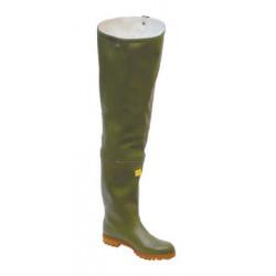 Stivali a tutta coscia Trento verdi con fibbia metallica