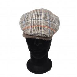 Cappello a coppola Lodenhut grigio a quadretti mod. 060606