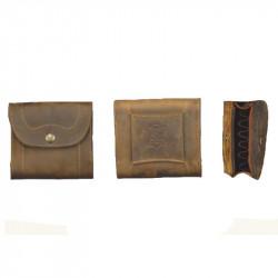 Giberna per carabina Artipel in pelle marrone mod.GBP01