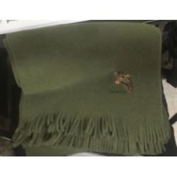 Sciarpa Riserva in pile verde con beccaccia mod. R9035BEC