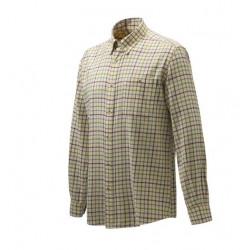 Camicia Beretta a fantasia multicolore mod.LUA10 T1644 01B9 Wood Flannel Butto Down Shirt Beige,Tan & Port Royale Check