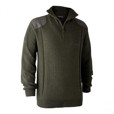 Maglione Deerhunter in lana mod.8637 Sheffield Knit Zip-Neck
