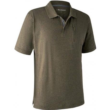 Larch Polo Shirt green melange