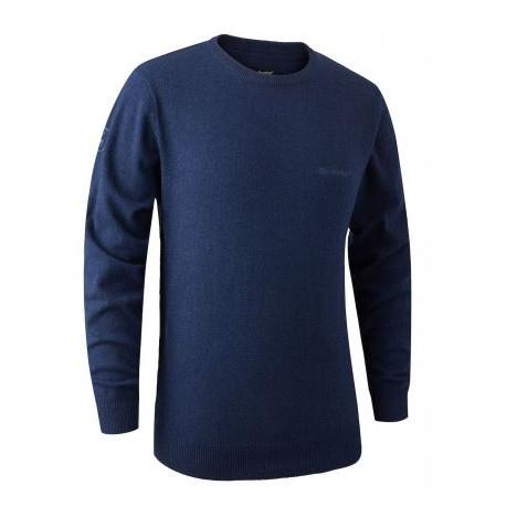 Maglione Deerhunter in lana merinos 8348 Kingston Knit O-Neck