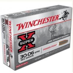 Cartuccia a palla Winchester per carabina cal. 30-06 SPRG ogiva Super X Power Point
