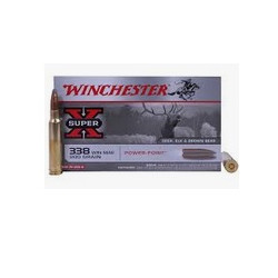 Cartuccia a palla Winchester per carabina cal. 338 Winchester Magnum ogiva Power Point