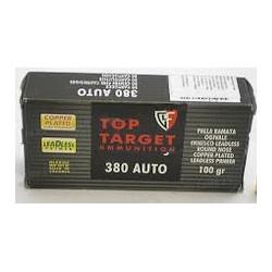 Cartuccia a palla per pistola Fiocchi cal. 380 Auto ogiva full metal jacket 95 gr