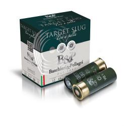 Cartuccia da Tiro a palla Baschieri e Pellagri per fucile cal. 12 ogiva Target Slug
