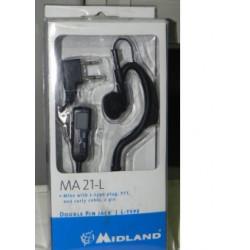 Microfono con cavo spiralato Midland MA21-L nero mod. C709-03
