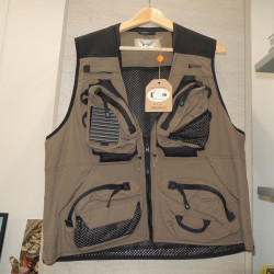 Gilet da Pesca Univers art 9387 044 colore tortora scuro