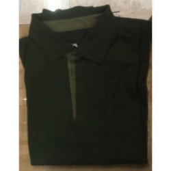 Polo a amniche lunghe Jagdhund verde mod. 91803 PB303 Clemens